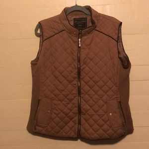 Plus Size Tan Quilted Vest